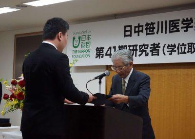 日中笹川医学奨学金制度(学位取得コース)第41期研究者を新たに迎えて