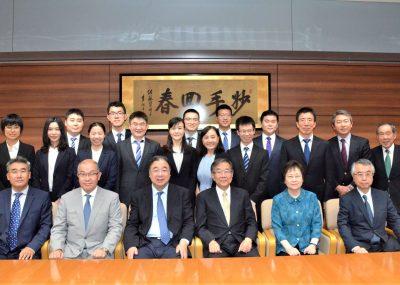 日中医学协会小川秀兴理事长(顺天堂理事长)与中国国家卫生健康委员会马晓伟主任会晤