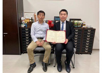 中日笹川医学奖学金项目攻读学位型研究员取得了千葉大学博士学位!