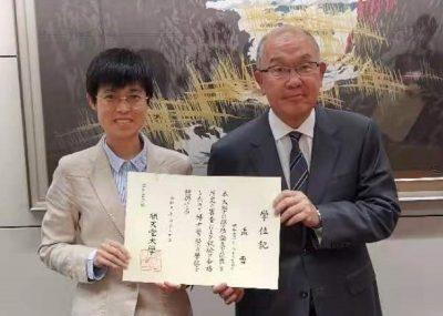 中日笹川医学奖学金项目攻读学位型研究员取得了顺天堂大学和中国医科大学双博士学位!