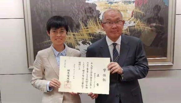 日中笹川医学奨学金制度<学位取得コース>研究者が順天堂大学と中国医科大学でダブル博士号取得!